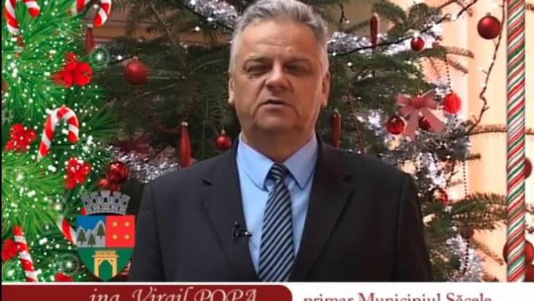 Mesajul primarului Municipiului Săcele, ing. Virgil Popa, cu ocazia sărbătorilor de iarnă
