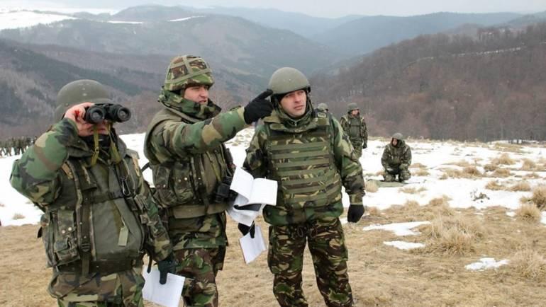 Exerciții militare pe U.A.T. SĂCELE