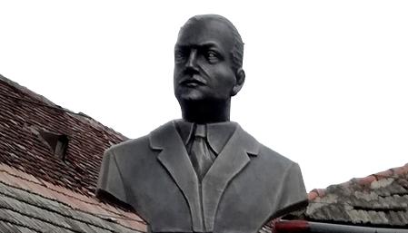 Inaugurarea oficială a statuii profesorului George Moroianu