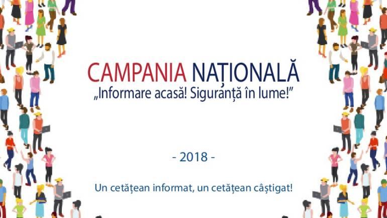 """Campania """"Informare acasă! Siguranță în lume"""""""