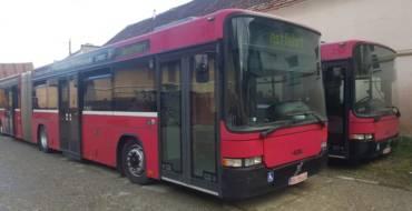 Patru autobuze achiziționate pentru parcul auto al S.C. Servicii Sacelene S.R.L