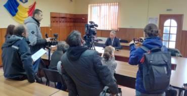Conferința de presă a primarului Municipiului Săcele, Virgil Popa