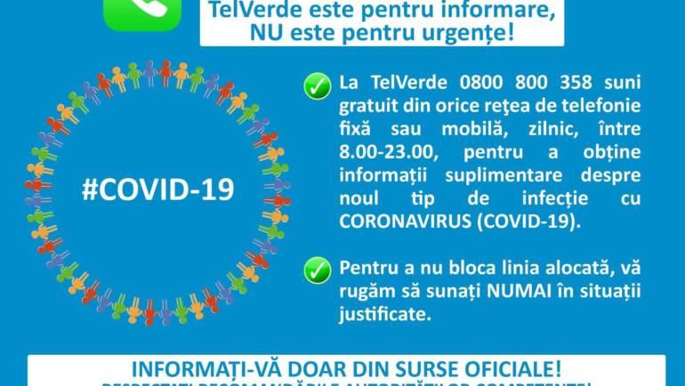 Monitorizare coronavirus, în data de 13.03.2020 în Municipiul Săcele, ora 8:00