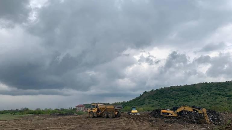 Mică pădure pe fosta groapă de gunoi de la Subobrej