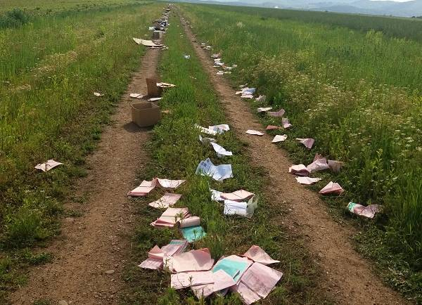 Deșeuri aruncate ilegal în Municipiul Săcele