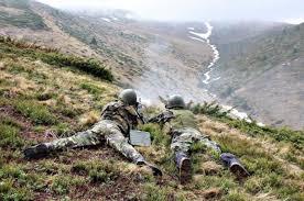Trageri militare în munții Grohotiș
