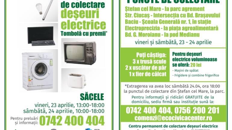 Campanie de colectare deșeuri electrice, 23 – 24 aprilie